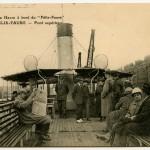 """Carte postale - De Rouen au Havre à bord du """"felix Faure"""""""