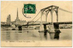 Carte postale - Rouen - L'Ancien Pont Suspendu